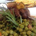 magret de canard, eend, lunch menu