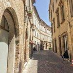 Via Falleroni, road of the Hotel