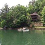 Many beautiful homes surround the lake.