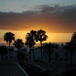Закат с балкона