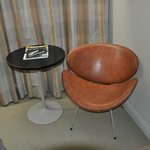 70's fake leather chair. Would do great in a vintage store.