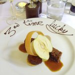 My scrumptious sticky toffee pudding with lots of clever textures and additions.