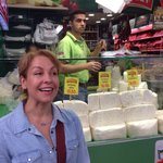 Taci, our wonderful guide, introduces us to Turkish cheese.