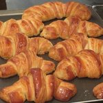 Delicious croissants just out of the oven