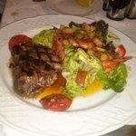 Fillet Steak with Warm House Salad
