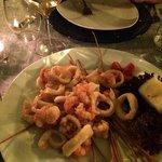 Fried calamari, prawns and octopus