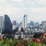 вид на Бангкок с крыши отеля