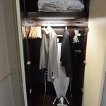 Closet in standard room at The Caledonian, Edinburgh, Scotland.