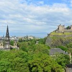 View from room 514, The Caledonian, Edinburgh, Scotland.