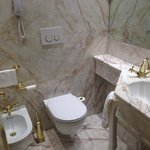 Standard- room for the toilet, all marble