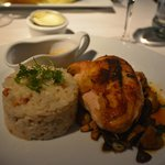 Roasted Chicken Breast with Walnut Risotto