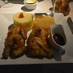 Cornish Game Hen with Mashed Potatoes and Applesauce