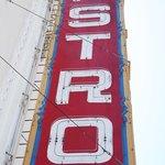 The sign of the theatre in Castro