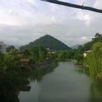 Вид с моста на гору-конус