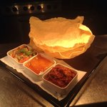 Starter for Tuesday curry night, starter and main course £12