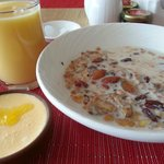 Cereal + Mango Milk + Mango Yogurt
