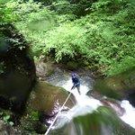 Descente en rappel au canyon d'Anitch sous le cirque de Lescun en vallée d'Aspe