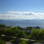 Outstanding view from room of Lake Champlain