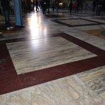 The original marble floor