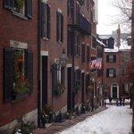 Acorn Street in the Winter