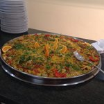 Lovely fresh paella from the hotel restaurant.