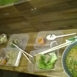 the pho bo and the tom yum soups