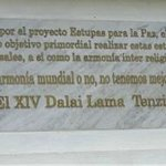 This is the inscription by the Dalai Lama
