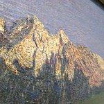 Close-up of Segantini's Alpine Landscape at Sunset
