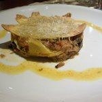 Lasagnetta di ceci con ragu' d'agnello all'abruzzese