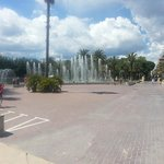 Fountains on promenade Salou