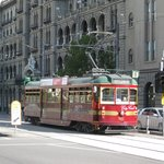 City Circle tram outside the Windsor Hotel