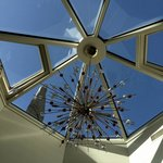 Skylight above TV / relaxation / dining areas