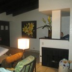 Living area / fireplace