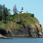 Cape Disappointment Lighthouse from North Jetty Road