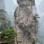 One of the many peaks in Zhangjiajie, close to the hotel.