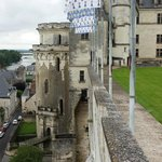 The Castle Wall overlooking the Loire River