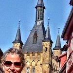 Ann Dunham and the Blue Tower (Blauer Turm).  Photo by W. Terry Hunefeld