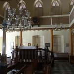 Inside view of synagogue looking forwards