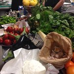 The fresh produce for the class.
