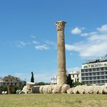 A look at the hotel from the temple of Zeus