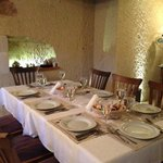 We loved eating in the intimate dining room