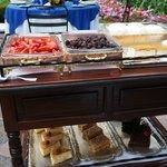 Dessert cart