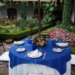 Atrium dining table