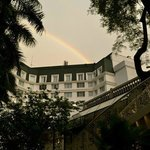 Rainbow over the hotel 2