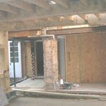 Downstairs before timber frame