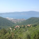 Tivat from the top of Vrmac