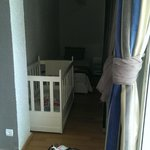 Annexe in our room with single bed, cot and a balcony