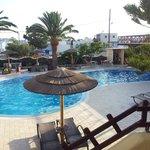 Vista piscina relax