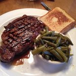 Ribeye with green beans. 18.99