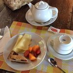 breakfast MY way, pastries were delightful and handmade, and of course the fruits and cheeses we